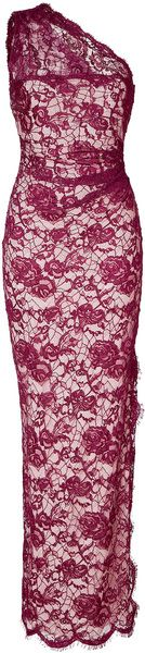 Boysenbeery Lace Overlay One Shoulder Gown - Lyst