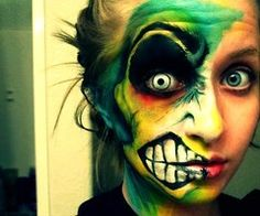 25 best crazy scary make up looks ideas 2016 scary doll makeup photo 2 emejing best face makeup photos ideas 2017 Sfx Makeup, Costume Makeup, Hair Makeup, Zombie Makeup, Medusa Costume, Zombie Eyes, Makeup Stuff, Airbrush Makeup, Halloween Fun