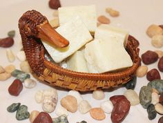 Small Duck Basket with Oatmeal Dream Soaps/Guest Soap