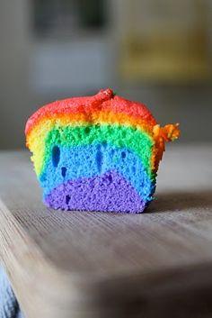 rainbow cupcake.