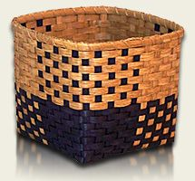 Color Block Waste Basket (to buy; no free instructions) by Viva