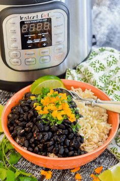 My Instant Pot Seasoned Black Beans Recipe makes a simple, tasty, healthy & budget friendly dinner. It's also perfect for batch cooking as the beans are great used as a base for other meals! #blackbeans #instantpot #pressurecooker #driedbeans #beans #healthy #vegan #vegetarian  via @avirtualvegan