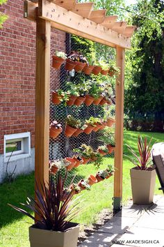 There are many reasons to make a DIY vertical garden. Small outdoor space, cooling shade, fresher air & privacy top the list. Here's a simple DIY.