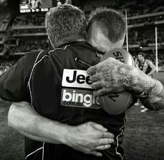 Dustin Martin and Damian Hardwick