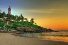 Lighthouse Beach | Sand and surf in Kovalam