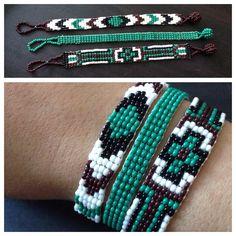(photo only) Beaded loom bracelet - trio