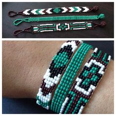 (photo only) Beaded loom bracelet - trio