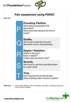 PQRST pain assessment