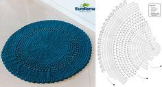 Tapete Redondo em Crochê Com Gráficos - EuroRoma        Para quem gosta de peças super versáteis, irá amar esta receita, que pode ser apli...