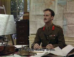 Captain Darling - Funny name for a guy isn't it? - Blackadder Quotes Captain Darling is a desk-sucking, pen pushing blotter jotter played by Tim McInnerny in Blackadder Goes Forth. Let's take a look at some of his best moments here! Comedy Quotes, Comedy Tv, Comedy Show, British Comedy Series, British Tv Comedies, Blackadder Quotes, Only Fools And Horses, British Humor, Humor