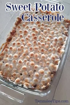 How to make Sweet Potato Casserole with Canned Yams Recipe! This delicious holiday side dish takes less than 30 minutes to make and tastes amazing. The perfect Thanksgiving, Christmas, or Easter side dish. Canned Sweet Potato Recipes, Canned Green Bean Recipes, Canned Sweet Potato Casserole, Canning Sweet Potatoes, Yummy Chicken Recipes, Easy Casserole Recipes, Yam Casserole, Vegetarian Recipes, Yummy Food