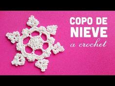 Una linda creacion en Crochet : Un copito de Nive, para los que tenemos y para los que no tenemos nieve.
