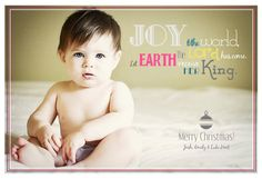 love this Christmas card font and saying