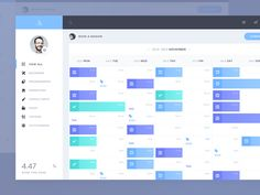 Interesting Calendar view by @Davide86 web #ui #inspiration #interface #web #design - UI Garage - The database of UI