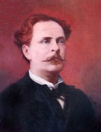 Alejandro Tapia y Rivera was a Puerto Rican poet, dramaturg, essayist and writer. Tapia is considered to be the father of Puerto Rican literature and as the person who has contributed the most to the cultural advancement of Puerto Rico's literature.  Born: November 12, 1826, San Juan, Puerto Rico. Died: July 19, 1882, San Juan, Puerto Rico. Books: Enardo and Rosael: An Allegorical Novella.