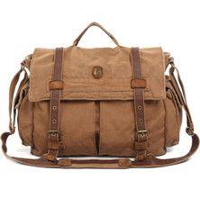 9954673638ef Heavy Duty Vintage Washed Messenger Bag 17