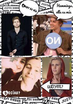 Luke Hemmings y Justin Bieber ❤️ Algo de humor ☺️