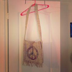 Brand new should peace purse Brand new, never used. 60% hemp, peace, should bag. Bags Shoulder Bags