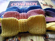 Bow Tie, I checked for a long time for a nice crochet pattern to make bow tie and now, thankd to @Nicki Clark Dodds Crafty I found it! #crochet #craft