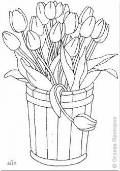 Tarjeta de cumpleaños de los tulipanes Quilling de papel Papel Cartón Glue tiras 11 fotos