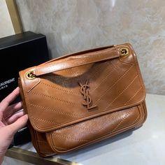 Ysl Saint Laurent new medium niki shoulder bag camel brown Saint Laurent Bag, New Media, Ysl, Camel, Saints, Shoulder Bag, Medium, Brown, Bags
