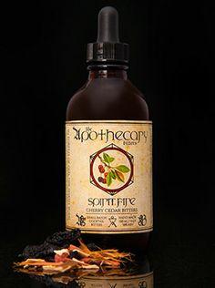 The Apothecary Bitters Company - Spirit Fire Cherry Cedar Bitters #bitters #apothecary #cocktail #mixology #apothecarybitterscompany #vancouver #kickstarter #cherry #cedar