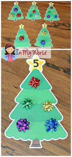 FREE Christmas Preschool Centers Christmas tree counting