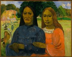 Paul Gauguin, Two Women on ArtStack #paul-gauguin #art
