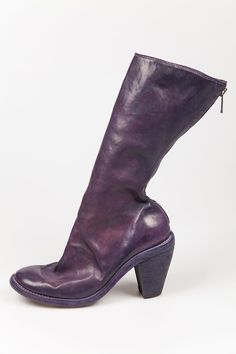 tall horse leather heels - GUIDI - Layers London