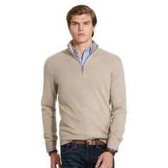Knit from ultra-soft cashmere, this half-zip pullover sweater is perfect for layering. Dress it up with a button-down and a tie or keep it casual with a T-shirt and a jean.
