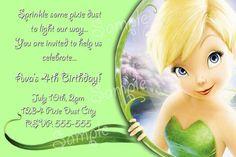 Free Tinkerbell Birthday Invitation Templates Birthdays