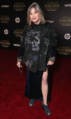 The Force Awakens from Carrie Fisher: A Life in Pictures She also starred in The Force Awakens as well as Star Wars Episode VIII which will premiere in Debbie Reynolds Carrie Fisher, Carrie Frances Fisher, Carrie Fisher Billie Lourd, Carrie Fisher Family, Celebrity Photos, Celebrity News, Cindy Williams, Paul Simon, Ex Wives