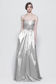 My wedding dress... however it is white not silver.