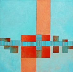 Saatchi Online Artist: Deborah Batt;  Dwelling 7 - Acrylic on canvas 30x30 in