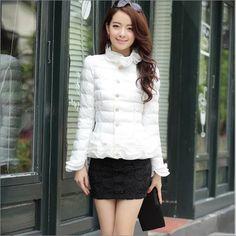 28.98$  Watch now - https://alitems.com/g/1e8d114494b01f4c715516525dc3e8/?i=5&ulp=https%3A%2F%2Fwww.aliexpress.com%2Fitem%2F2015-New-Fashion-Casaco-Feminino-Inverno-Winter-Jacket-Women-Slim-Office-Ruffles-Ladies-Cotton-Padded-Jackets%2F32530268750.html - 2016 New Fashion Casaco Feminino Inverno Winter Jacket Women Slim Office Ruffles Ladies Cotton-Padded Jackets And Coats S-XXL 28.98$