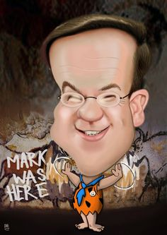 caricaturen van nederlandse politici | Premier en cultuurbarbaar Mark Rutte