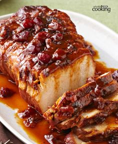 Slow-Cooker Cranberry-Orange Pork Roast #recipe
