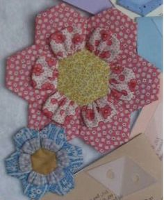 A 3-D Grandmother's Flower! Love it!