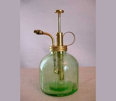 Vintage Green Fluted Glass Plant  ATOMIZER by LilBlackDressVintage, $20.00