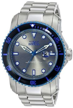 Men's Wrist Watches - Invicta Mens 15077 Pro Diver Analog Display Japanese Quartz Silver Watch >>> Details can be found by clicking on the image.