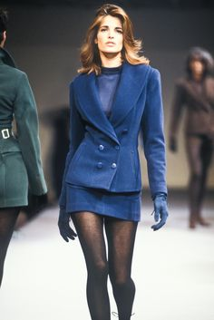 Stephanie Seymour - Azzedine Alaia Ready-To-Wear Fall/Winter 1990.