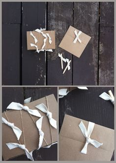twist on brown paper packages tied up with string by tokketok