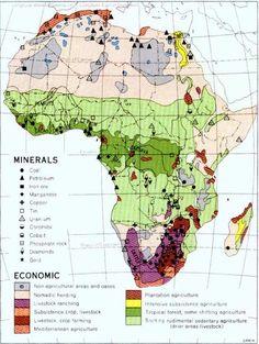 Mapa de minerales y actividad económica