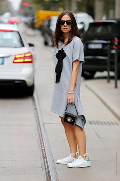 Thestreetfashion5xpro: In the Street...Grey, the new black...For vogue.it