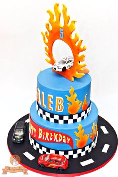 Hot Wheels Cake. Side view.. www.facebook.com/thesweeteryph