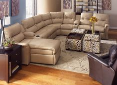 Sofaweb.com Inc. Oakbrook Brown Curved Top Grain Leather Sectional Sofa And  Ottoman | Console Tables | Pinterest | Curve Tops, Leather Sectional Sofas  And ...