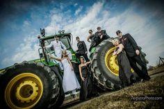 John Deere wedding picture.