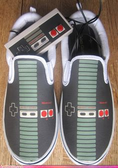NES slip-on custom printed shoes...I want these!