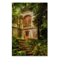 "Trademark Art 'Rapunzel Rapunzel' by Lois Bryan Painting Print on Wrapped Canvas Size: 47"" H x 30"" W x 2"" D"