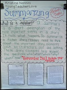 Help your upper elementary students better learn how to summarize text with the great ideas and activities at this blog post. You get a FREE printable graphic organize for 3rd, 4th, 5th, and 6th grade students. Plus check out the anchor chart and book suggestions. These are sure to make teaching the strategy of summarizing a bit easier! (third, fourth, fifth, sixth graders, home school, homeschool) #YoungTeacherLove #SummarizeText Reading Lessons, Writing Lessons, Teaching Writing, Teaching Ideas, Reading Strategies, Reading Comprehension, Teaching Resources, Easy Writing, Reading Skills